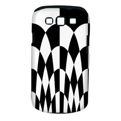 Checkered Flag Race Winner Mosaic Pattern Curves  Samsung Galaxy S III Classic Hardshell Case (PC+Silicone)