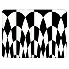 Checkered Flag Race Winner Mosaic Pattern Curves  Samsung Galaxy Tab 7  P1000 Flip Case