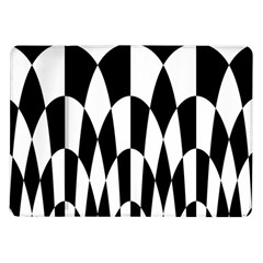Checkered Flag Race Winner Mosaic Pattern Curves  Samsung Galaxy Tab 10.1  P7500 Flip Case