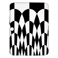 Checkered Flag Race Winner Mosaic Pattern Curves  Samsung Galaxy Tab 3 (10.1 ) P5200 Hardshell Case