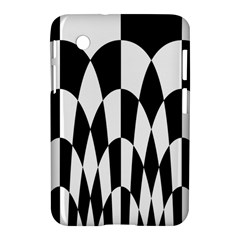Checkered Flag Race Winner Mosaic Pattern Curves  Samsung Galaxy Tab 2 (7 ) P3100 Hardshell Case