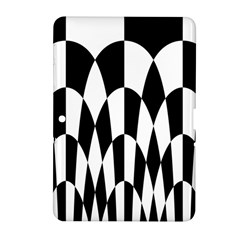 Checkered Flag Race Winner Mosaic Pattern Curves  Samsung Galaxy Tab 2 (10.1 ) P5100 Hardshell Case