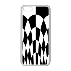 Checkered Flag Race Winner Mosaic Pattern Curves  Apple iPhone 5C Seamless Case (White)