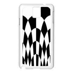 Checkered Flag Race Winner Mosaic Pattern Curves  Samsung Galaxy Note 3 N9005 Case (White)