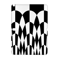 Checkered Flag Race Winner Mosaic Pattern Curves  Samsung Galaxy Note 10.1 (P600) Hardshell Case