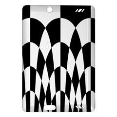 Checkered Flag Race Winner Mosaic Pattern Curves  Kindle Fire HD (2013) Hardshell Case