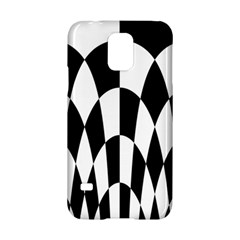 Checkered Flag Race Winner Mosaic Pattern Curves  Samsung Galaxy S5 Hardshell Case