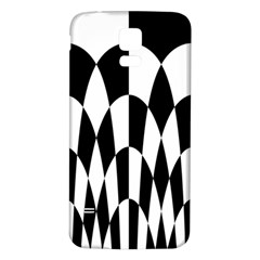 Checkered Flag Race Winner Mosaic Pattern Curves  Samsung Galaxy S5 Back Case (White)