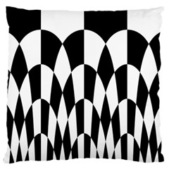 Checkered Flag Race Winner Mosaic Pattern Curves  Large Flano Cushion Case (One Side)