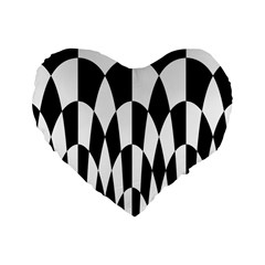 Checkered Flag Race Winner Mosaic Pattern Curves  16  Premium Flano Heart Shape Cushion