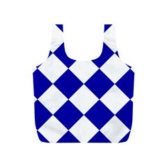 Harlequin Diamond Pattern Cobalt Blue White Reusable Bag (s)
