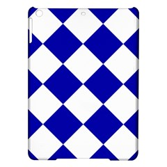 Harlequin Diamond Pattern Cobalt Blue White Apple Ipad Air Hardshell Case