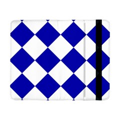 Harlequin Diamond Pattern Cobalt Blue White Samsung Galaxy Tab Pro 8.4  Flip Case