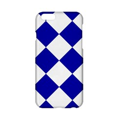 Harlequin Diamond Pattern Cobalt Blue White Apple iPhone 6 Hardshell Case