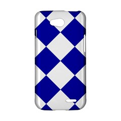 Harlequin Diamond Pattern Cobalt Blue White LG L90 Hardshell Case