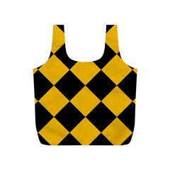 Harlequin Diamond Gold Black Reusable Bag (S)
