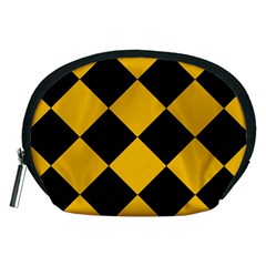 Harlequin Diamond Gold Black Accessory Pouch (Medium)