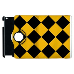 Harlequin Diamond Gold Black Apple iPad 2 Flip 360 Case
