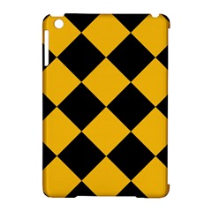 Harlequin Diamond Gold Black Apple Ipad Mini Hardshell Case (compatible With Smart Cover)