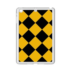Harlequin Diamond Gold Black Apple iPad Mini 2 Case (White)