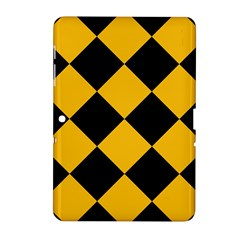 Harlequin Diamond Gold Black Samsung Galaxy Tab 2 (10.1 ) P5100 Hardshell Case