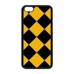Harlequin Diamond Gold Black Apple Iphone 5c Seamless Case (black)