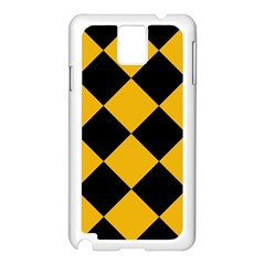 Harlequin Diamond Gold Black Samsung Galaxy Note 3 N9005 Case (white)