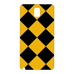 Harlequin Diamond Gold Black Samsung Galaxy Note 3 N9005 Hardshell Back Case