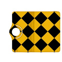 Harlequin Diamond Gold Black Kindle Fire HDX 8.9  Flip 360 Case