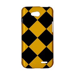 Harlequin Diamond Gold Black LG L90 Hardshell Case