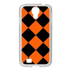 Harlequin Diamond Orange Black Samsung Galaxy S4 I9500/ I9505 Case (white)