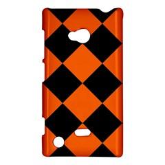 Harlequin Diamond Orange Black Nokia Lumia 720 Hardshell Case