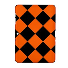 Harlequin Diamond Orange Black Samsung Galaxy Tab 2 (10.1 ) P5100 Hardshell Case