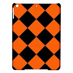 Harlequin Diamond Orange Black Apple Ipad Air Hardshell Case