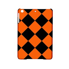 Harlequin Diamond Orange Black Apple iPad Mini 2 Hardshell Case