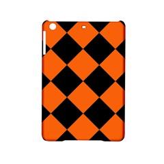 Harlequin Diamond Orange Black Apple Ipad Mini 2 Hardshell Case