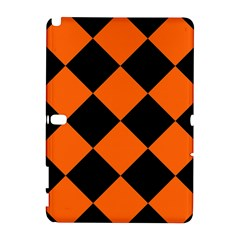 Harlequin Diamond Orange Black Samsung Galaxy Note 10 1 (p600) Hardshell Case