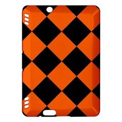 Harlequin Diamond Orange Black Kindle Fire HDX Hardshell Case