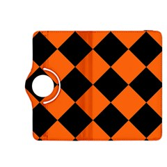Harlequin Diamond Orange Black Kindle Fire HDX 8.9  Flip 360 Case