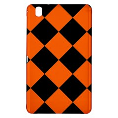 Harlequin Diamond Orange Black Samsung Galaxy Tab Pro 8.4 Hardshell Case
