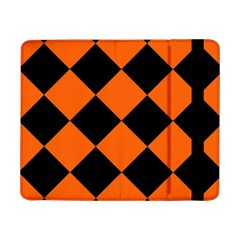 Harlequin Diamond Orange Black Samsung Galaxy Tab Pro 8.4  Flip Case