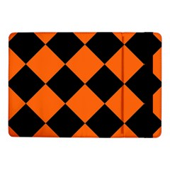 Harlequin Diamond Orange Black Samsung Galaxy Tab Pro 10.1  Flip Case