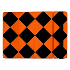 Harlequin Diamond Orange Black Samsung Galaxy Tab Pro 12.2  Flip Case