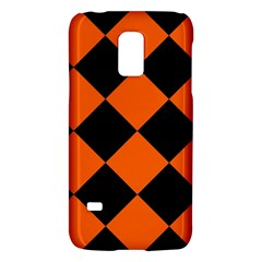 Harlequin Diamond Orange Black Samsung Galaxy S5 Mini Hardshell Case