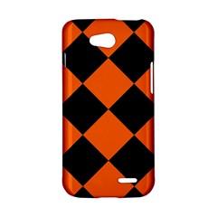 Harlequin Diamond Orange Black LG L90 Hardshell Case