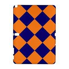 Harlequin Diamond Navy Blue Orange Samsung Galaxy Note 10.1 (P600) Hardshell Case
