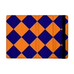 Harlequin Diamond Navy Blue Orange Apple Ipad Mini 2 Flip Case