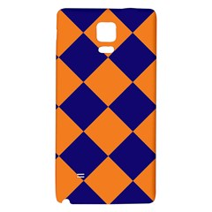 Harlequin Diamond Navy Blue Orange Samsung Note 4 Hardshell Back Case