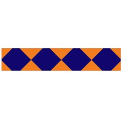 Harlequin Diamond Navy Blue Orange Flano Scarf (Large)