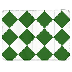 Harlequin Diamond Green White Samsung Galaxy Tab 7  P1000 Flip Case